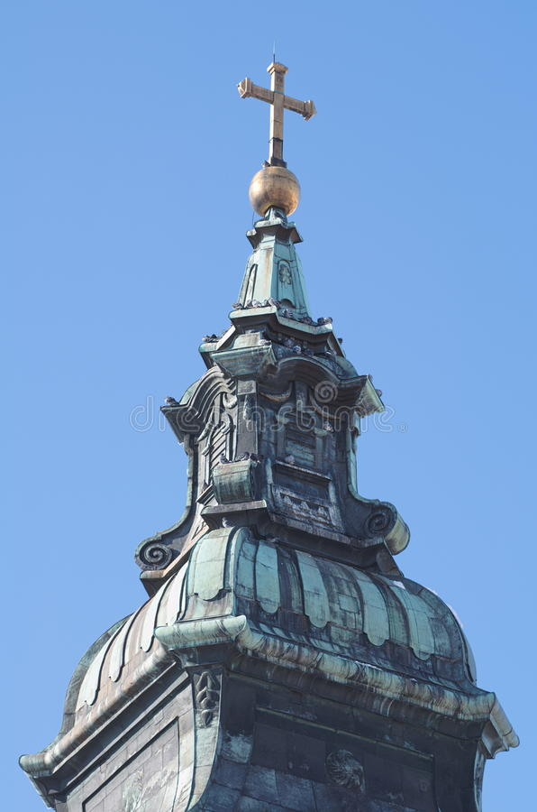 Torre de igreja barroca imagem de stock royalty free