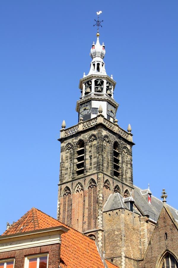 Torre de igreja gouda fotografia de stock royalty free