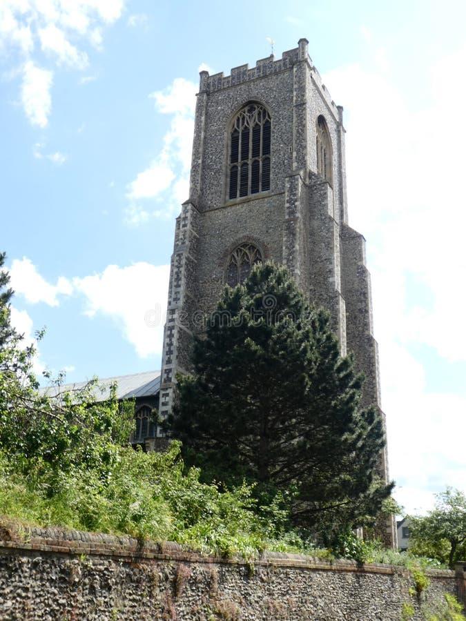 Torre de igreja de St Giles no monte, Norwich, Norfolk, Reino Unido fotografia de stock royalty free
