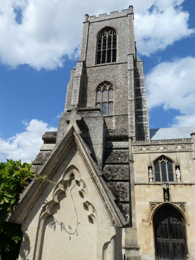 Torre de igreja de St Giles no monte, Norwich, Norfolk, Reino Unido foto de stock royalty free