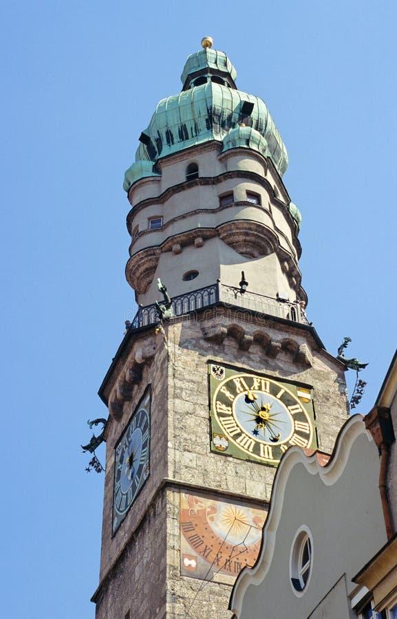 Torre de Innsbruck imagens de stock royalty free