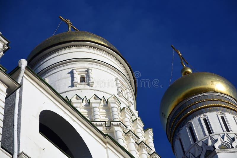 Torre de Ivan Great Bell do Kremlin de Moscou Local do património mundial do Unesco fotos de stock