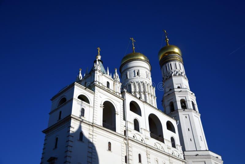 Torre de Ivan Great Bell do Kremlin de Moscou Local do patrim?nio mundial do Unesco fotografia de stock royalty free