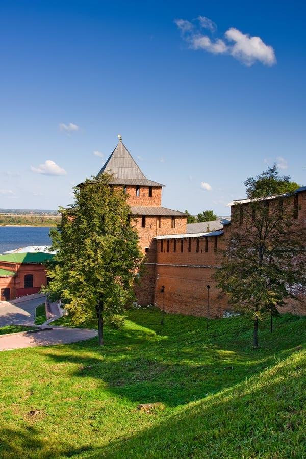 Torre de Ivanovskaya de Nizhny Novgorod kremlin imagem de stock royalty free