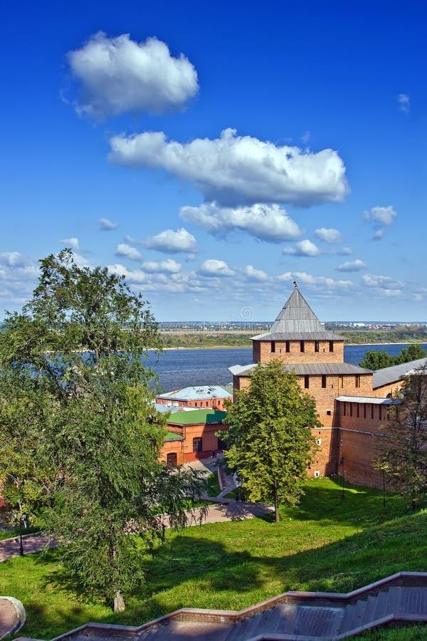 Torre de Ivanovskaya de Nizhny Novgorod kremlin imagens de stock royalty free