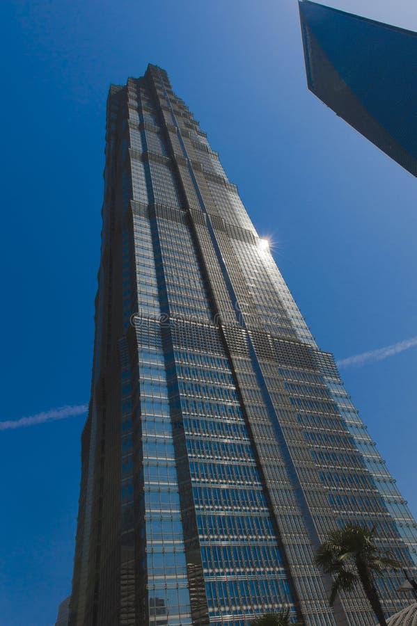 Torre de Jin Mao em Shanghai fotos de stock