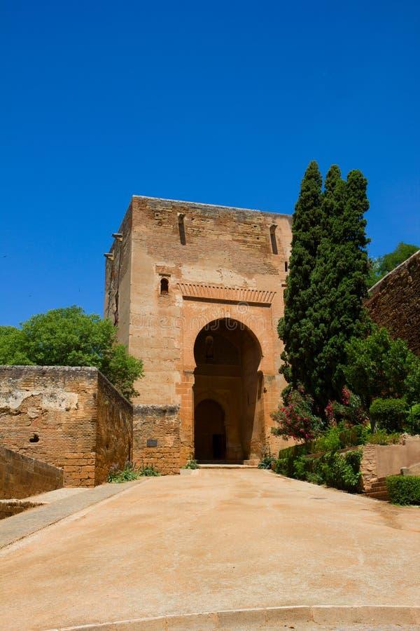 A torre de justiça, Granada fotografia de stock royalty free