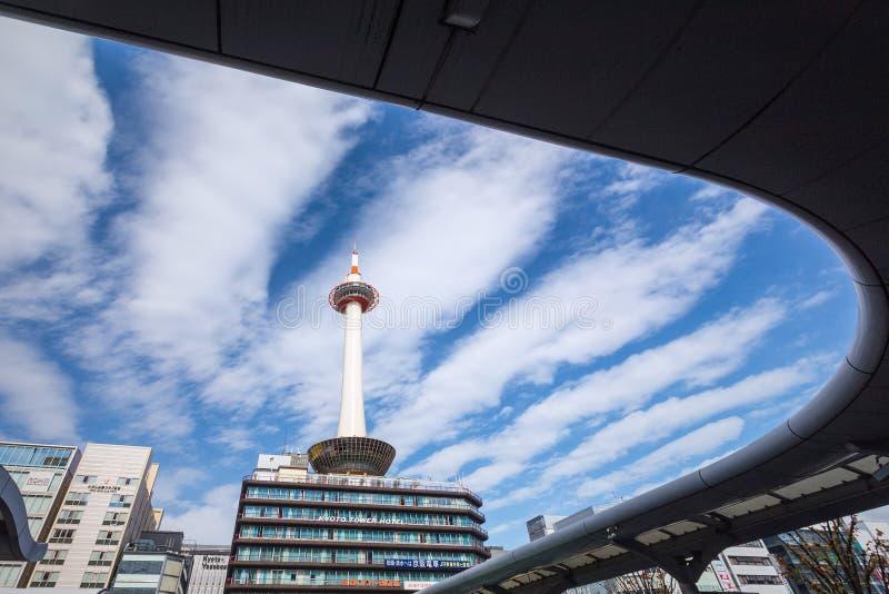 Torre de Kyoto en Japón imagen de archivo