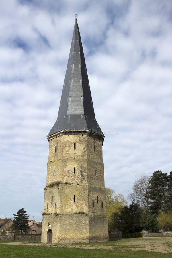Torre de la abadía de Winoc del santo, Bergues, Pas de Calais, Francia de Nord fotografía de archivo libre de regalías