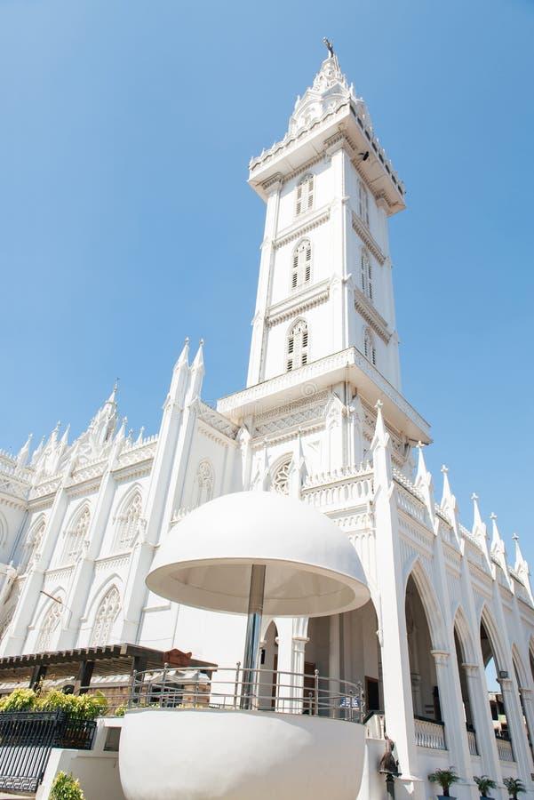 Torre de la biblia en la ciudad de Thrissur fotografía de archivo