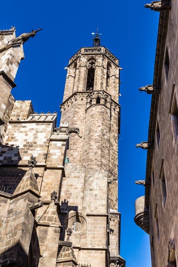 Torre de la catedral - Barcelona, Cataluña, España imagen de archivo