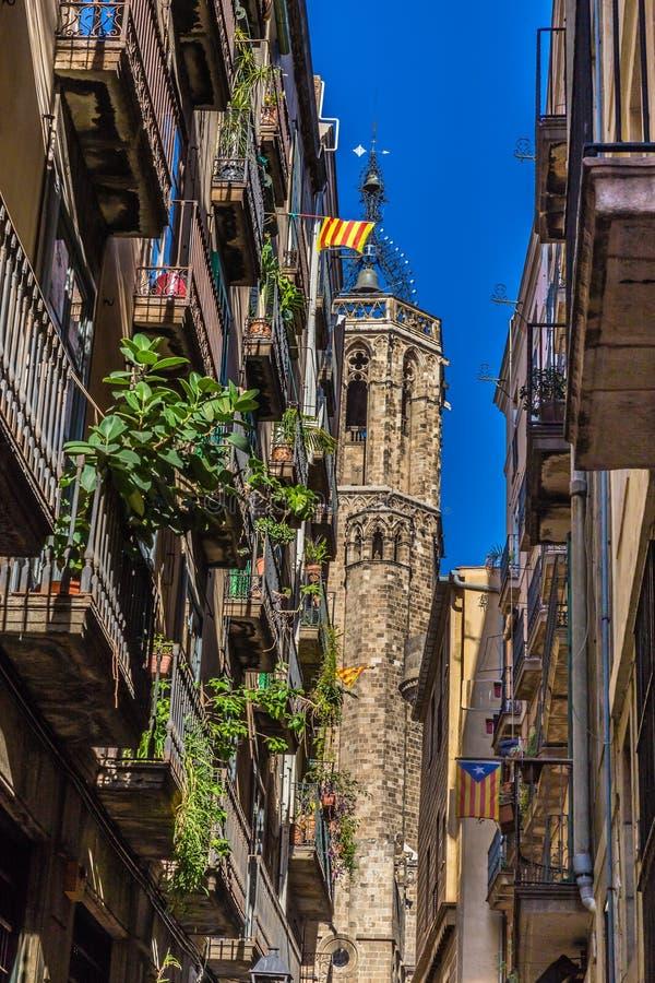 Torre de la catedral - Barcelona, Cataluña, España fotografía de archivo libre de regalías