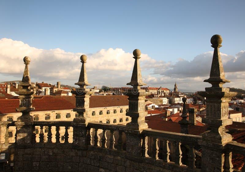 Torre de la catedral de Santiago de Compostela imagen de archivo