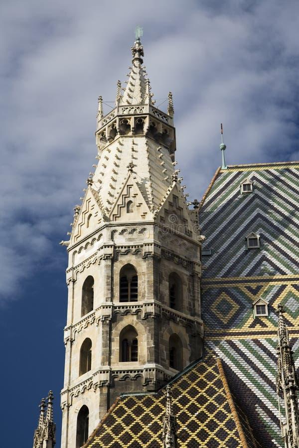 Torre de la catedral del St Stephens, Viena Austria imagen de archivo libre de regalías