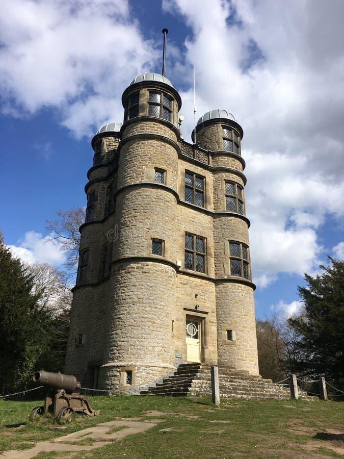 Torre de la caza de Chatsworth imagenes de archivo