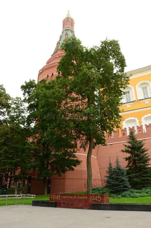 Torre de la esquina del arsenal - pared Moscú del Kremlin foto de archivo libre de regalías