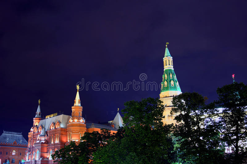 Torre de la esquina del arsenal (Sobakina) de Moscú el Kremlin foto de archivo libre de regalías