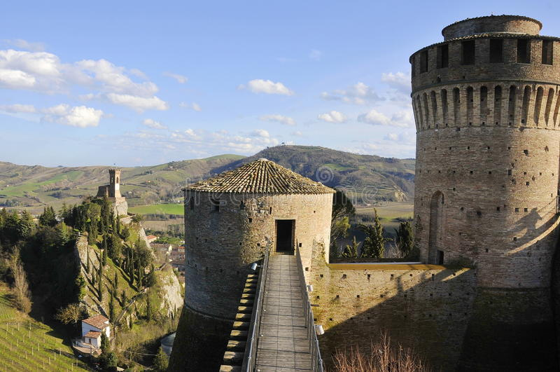 Torre de la fortaleza y de alarma fotografía de archivo
