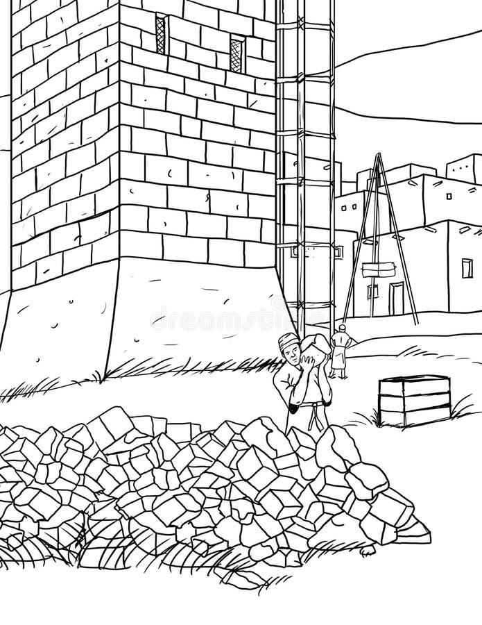 Torre de la historieta ilustración del vector