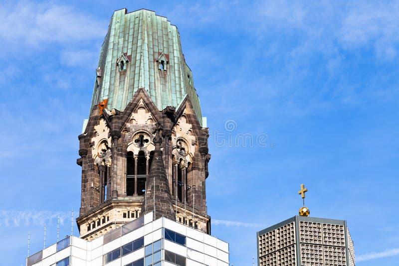 Torre de la iglesia del monumento de Kaiser Wilhelm fotografía de archivo libre de regalías