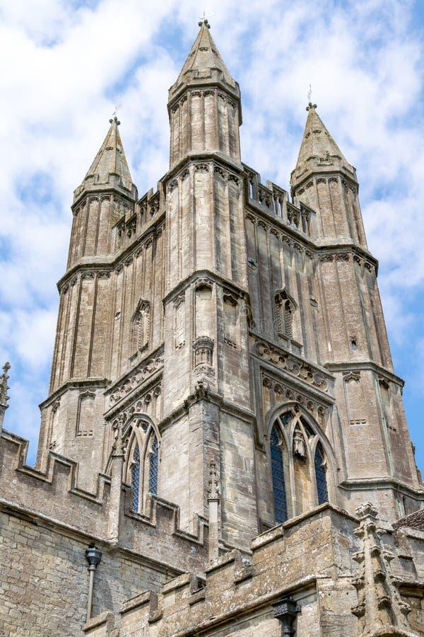 Torre de la iglesia de St Sampson, Cricklade, Wiltshire fotos de archivo libres de regalías