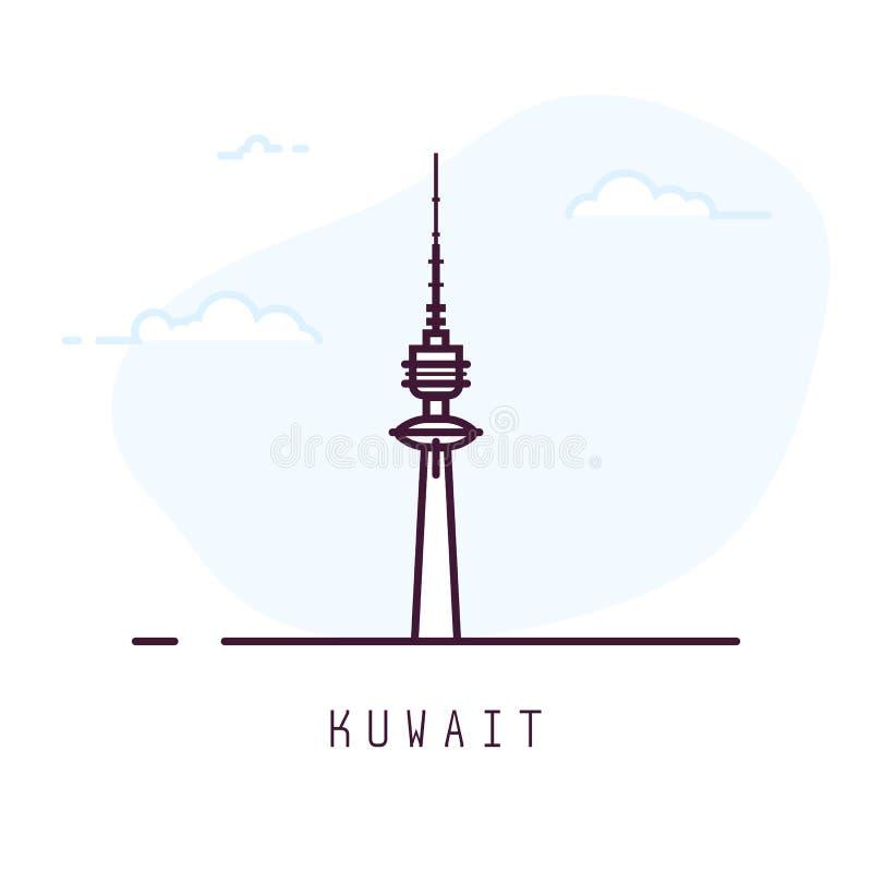 Torre de la libertad de Kuwait ilustración del vector