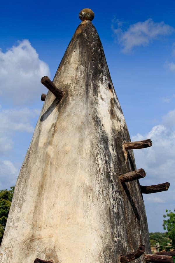 Torre de la mezquita del fango y del palillo fotos de archivo libres de regalías