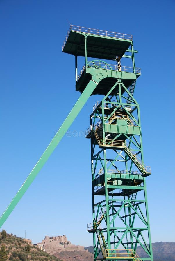 Torre de la mina de Cardona fotografía de archivo libre de regalías