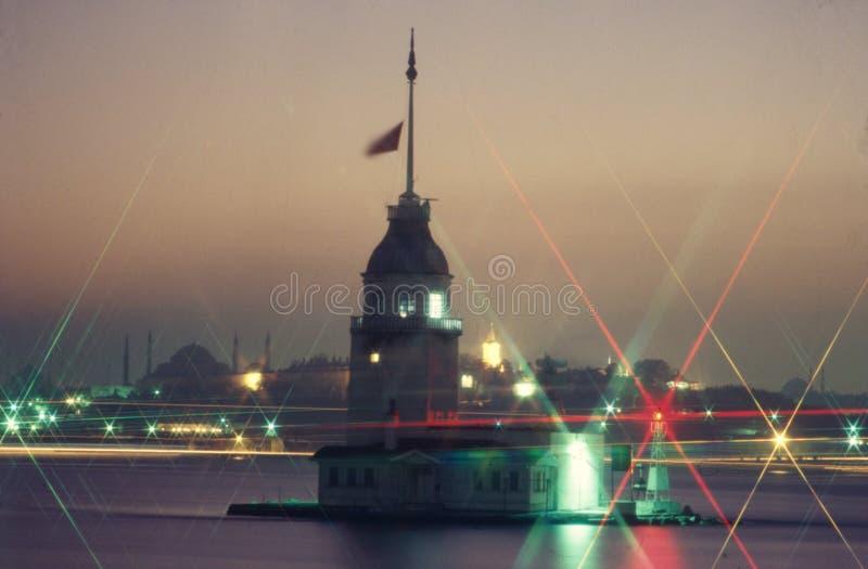 Torre de la muchacha, Bosphorus Estambul foto de archivo