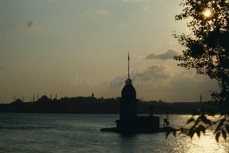 Torre de la muchacha, Bosphorus Estambul fotos de archivo libres de regalías
