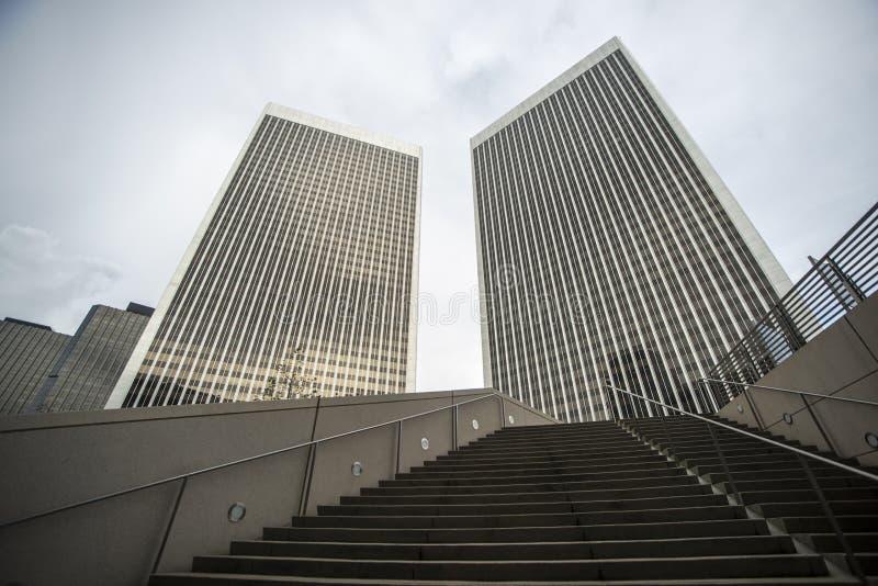 Torre de la plaza del siglo en Los Ángeles, los E.E.U.U. foto de archivo