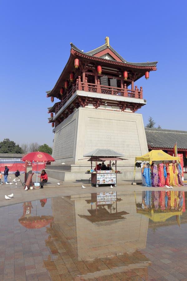 Torre de la puerta de la ciudad del jardín del furong del datang imagenes de archivo