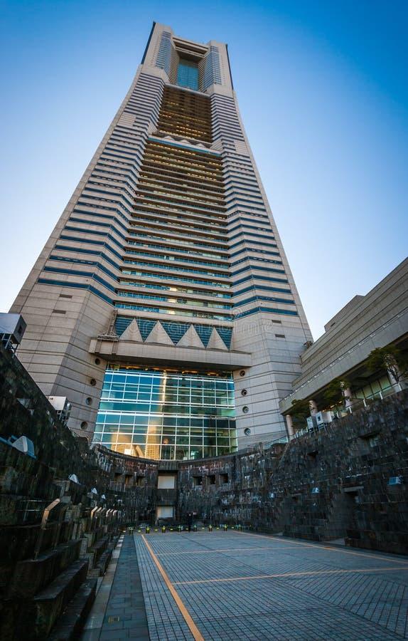 Torre de la señal de Yokohama y jardín del astillero fotografía de archivo
