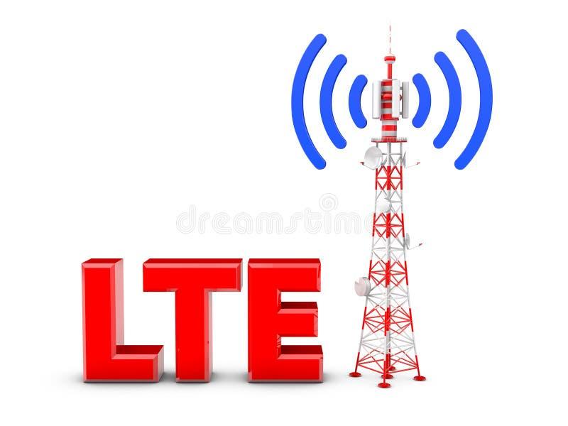 Torre de la telecomunicación stock de ilustración