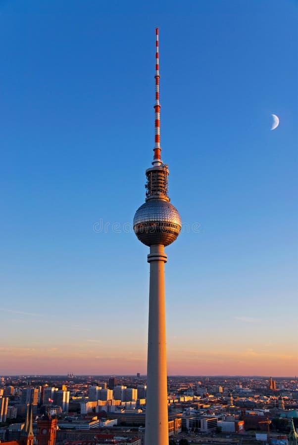 Torre de la televisión de Berlín foto de archivo libre de regalías