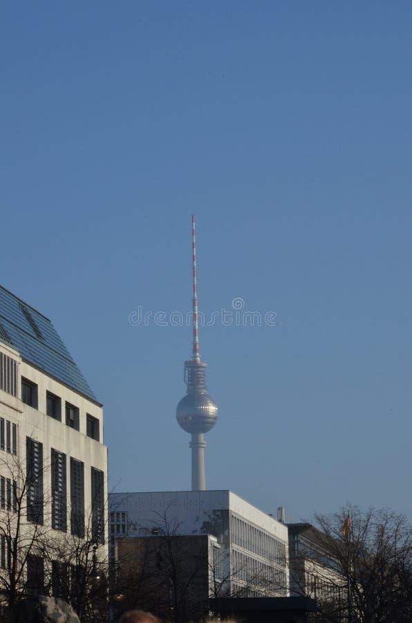 Torre de la televisi?n en Berl?n fotografía de archivo libre de regalías