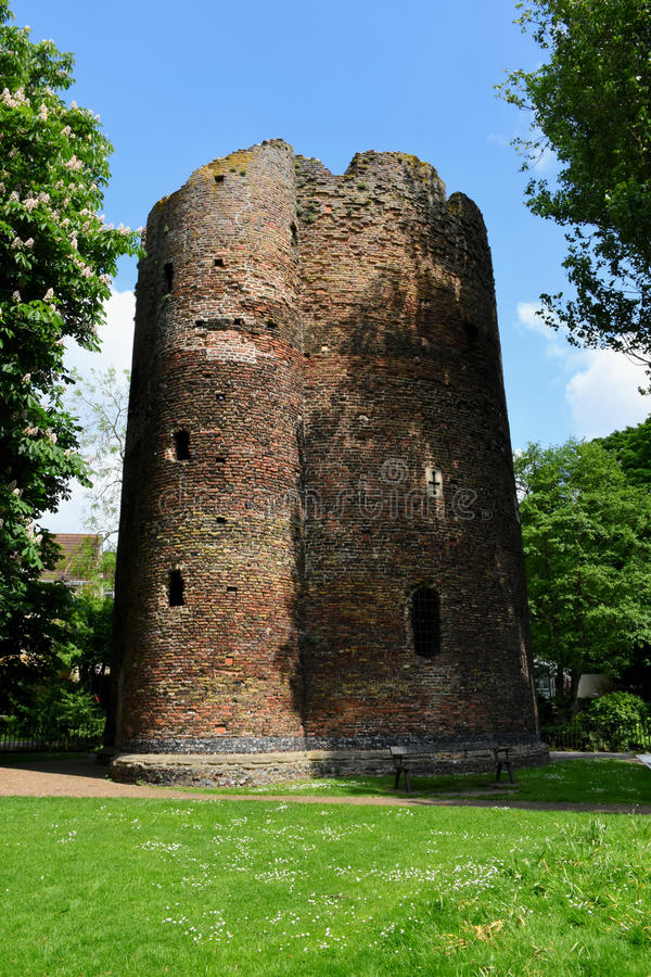 Torre de la vaca, Norwich, Norfolk, Inglaterra imágenes de archivo libres de regalías