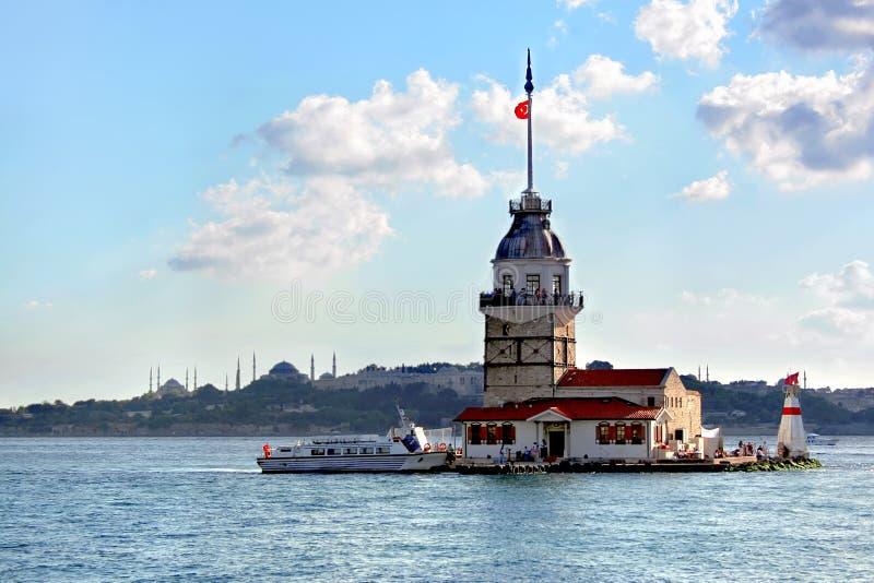Torre de Leanders. Istambul fotografia de stock royalty free