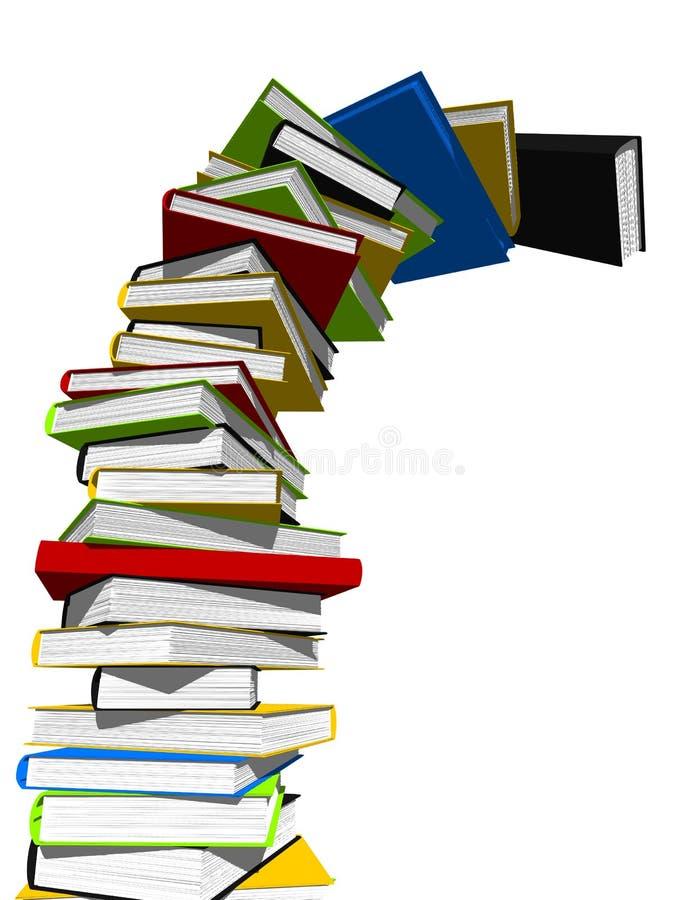 Torre de libros stock de ilustración
