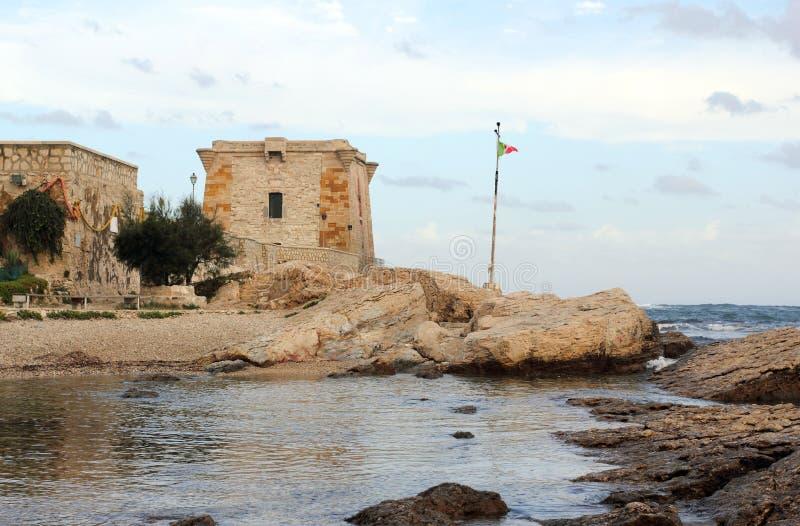 Torre de Ligny em Trapani - Sicília imagens de stock royalty free