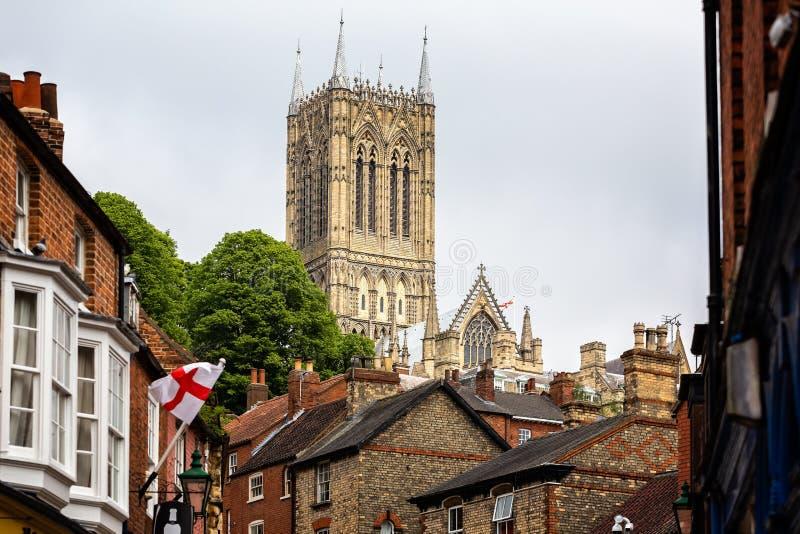 Torre de Lincoln Cathedral imagens de stock