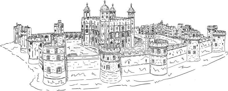 A torre de Londres ilustração royalty free