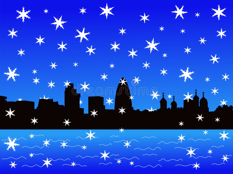 Torre de Londres no inverno ilustração royalty free