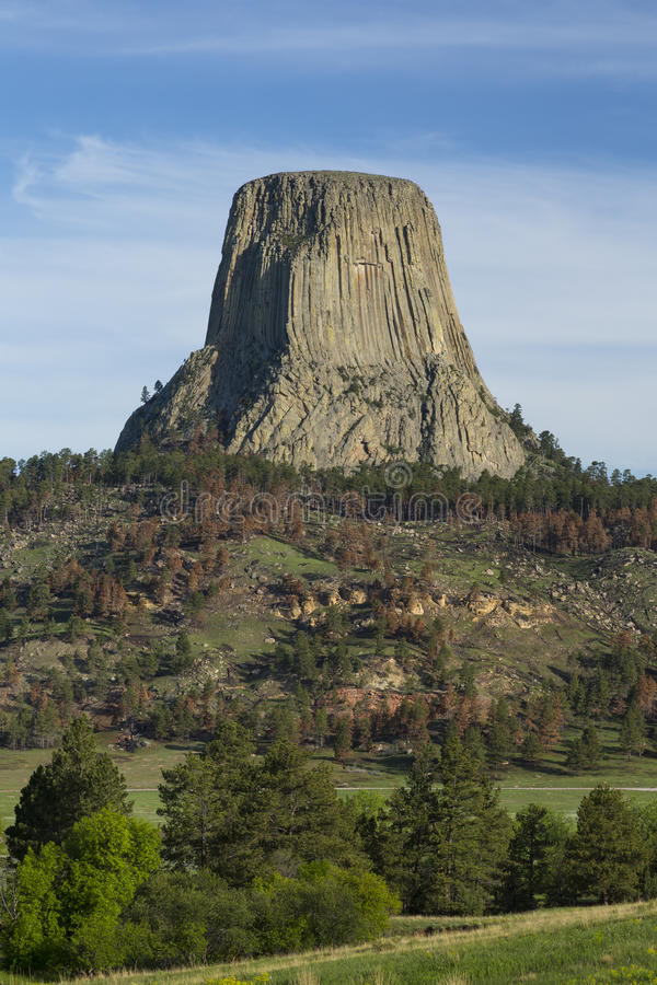 Torre de los diablos imagen de archivo