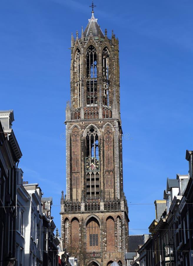 Torre de los Dom de Utrecht, Holanda foto de archivo