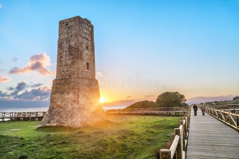 Torre de los ladrones en Cabopino fotografía de archivo libre de regalías