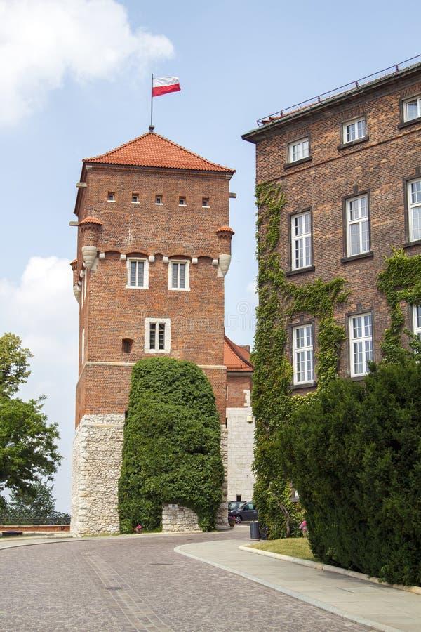 Torre de los ladrones en el castillo de Wawel en Krak?w, Polonia imágenes de archivo libres de regalías