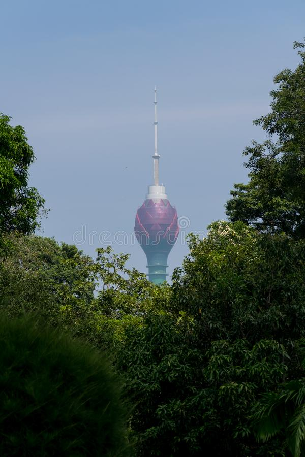 Torre de Lothus en Colombo Sri Lanka imágenes de archivo libres de regalías