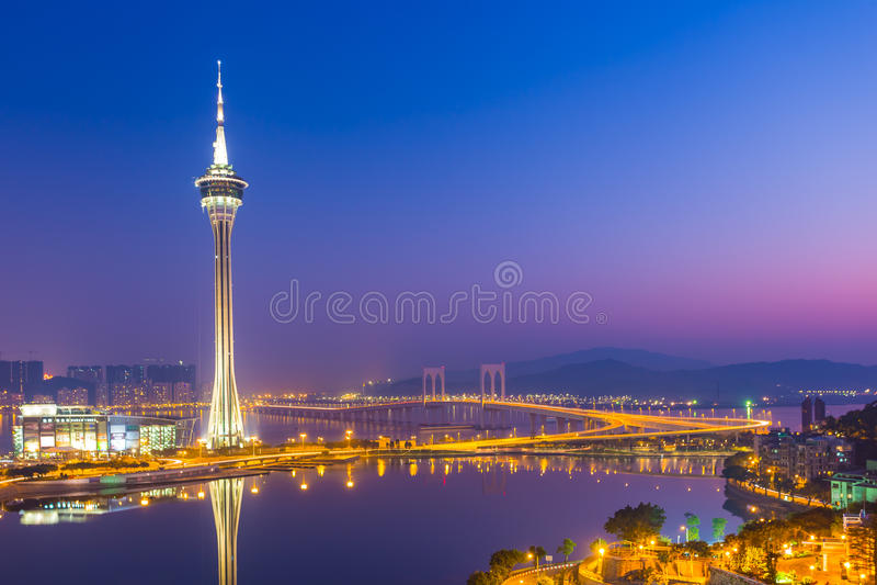 Torre de Macao fotografía de archivo