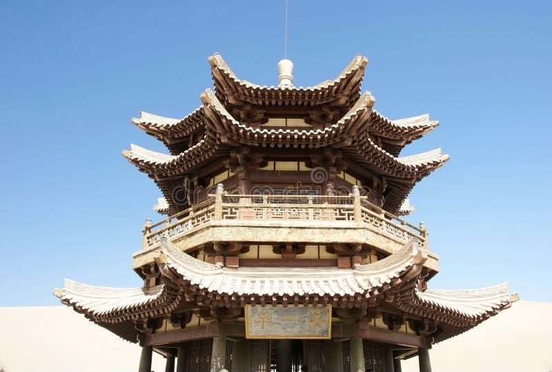 Torre de madeira antiga chinesa imagem de stock